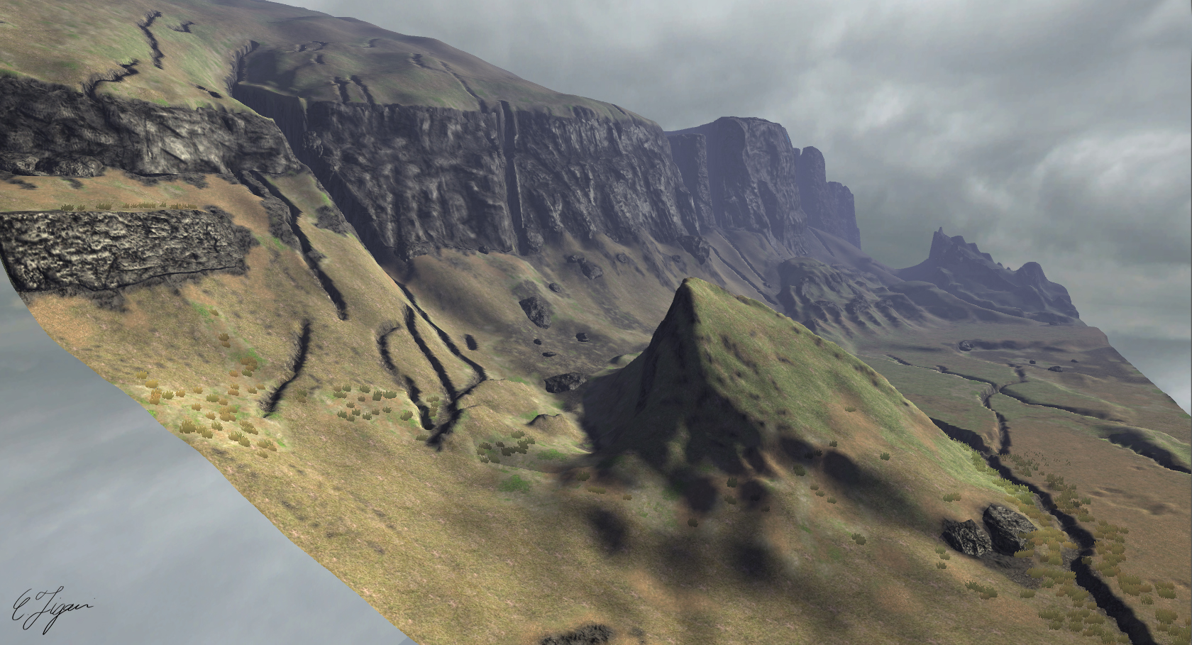 how to create a terrain in unity using a script
